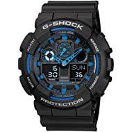 G-Shock GA100-1A2 Ana-Digi Speed Indicator Black Dial Men's Watch