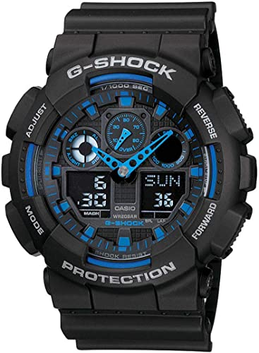 Casio G Shock Analog Digital Blue Dial Men s Watch GA 100 1A2DR G271