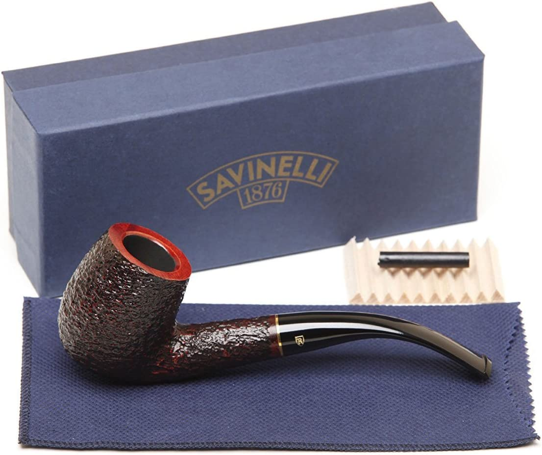 Savinelli Over item handling shop ☆ Italian Tobacco Smoking Pipes 606 KS Roma Rusticated