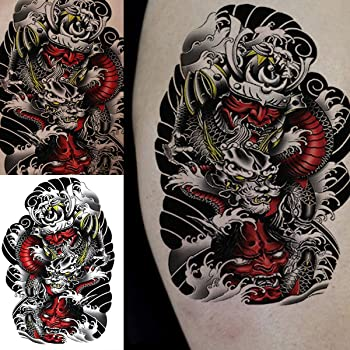 Amazon Com Oottati 2 Sheets Old School Japan Armor Samurai Skull Temporary Tattoos For Arm Beauty Our ink armor tattoo sleeve covers are first rate and we support u.s. oottati 2 sheets old school japan armor