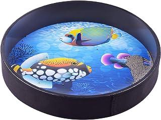 Ocean Drum Funien 16 Inch Ocean Drum Wooden Handheld Sea Wave Drum Percussion Instrument Gentle Sea Sound Musical Toy Gift...