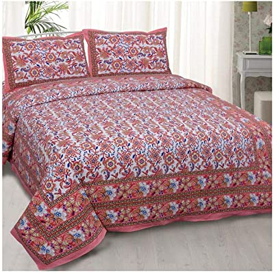 Beautiful Soft Patch Work Cotton Fabric Bedsheet in King Size SYCBS-62