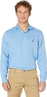 Psycho Bunny Men's Styford Long Sleeve Linen Shirt
