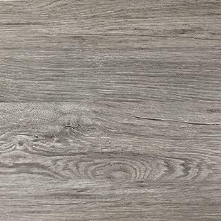 Klebefolie in grauer Holz-Optik 200 x 67,5cm I Selbstklebende Folie für Möbel Küche & Deko I Blickdichte Selbstklebefolie hitzebeständig & abwaschbar I 3D Holz-Maserung Dekor Kalk-Esche