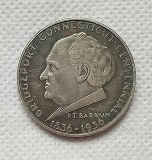 RARE Antique USA United States 1936 Bridgeport Connecticut Commemorative Half Dollar Silver Color Coin