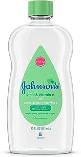 Johnson's Baby Oil, Mineral Oil Enriched With Aloe Vera and Vitamin E to Prevent Moisture Loss, Hypoallergenic, 20 fl. oz