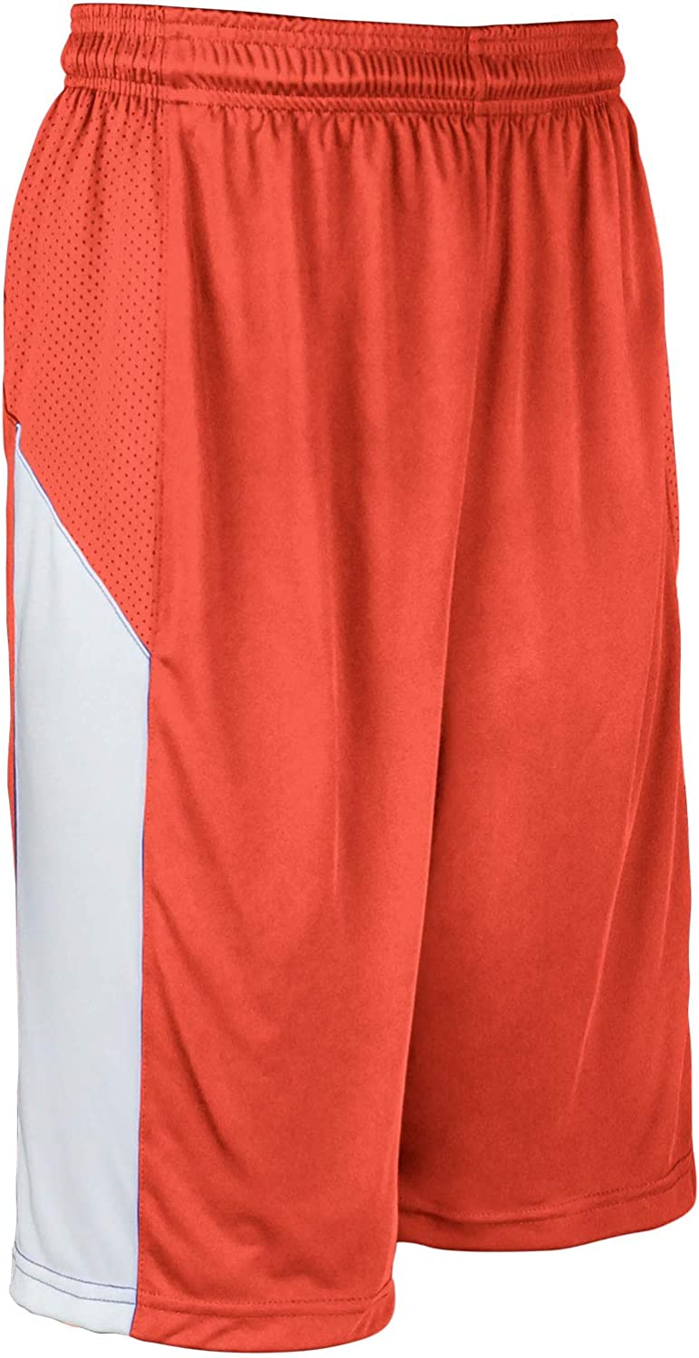 CHAMPRO Charge Max 78% OFF Polyester Basketball Short X-Large Finally popular brand Orange Adult