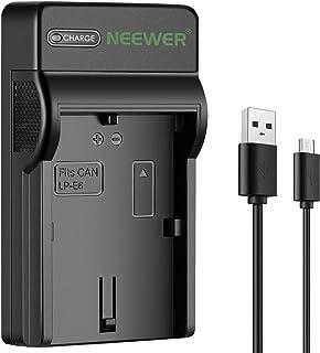 Neewer Fino Rápido Micro USB Cargador de Batería para Canon LP-E6 EOS 6D 7D 60D 70D 80D 5Ds 5D Mark II EOS 5D Mark III 60DA SLR Cámaras Digitales Opción de Carga Múltiple