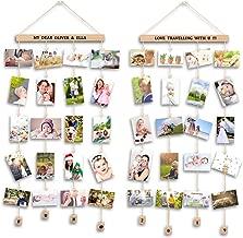 Uping Marco Fotos para Pared Colgar Fotos Pared con Pinzas, Decoración del Hogar Y Regalo (2 Pack, con Pegatinas de Alfabeto y Número)