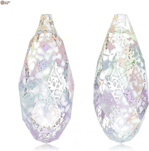 Cristales de Swarovski 5097820 Colgantes de Cristal 6010 MM 17,0X 8,5 Crystal blanco-Pat, 36 Piezas