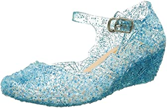 CQDY Blue Girl's Princess Shoes Cinderella Elsa Frozen Toddler Cosplay Dancing Show Shoes(Toddler/Little Kid)