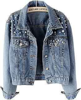 graue jeansjacke damen mit strass