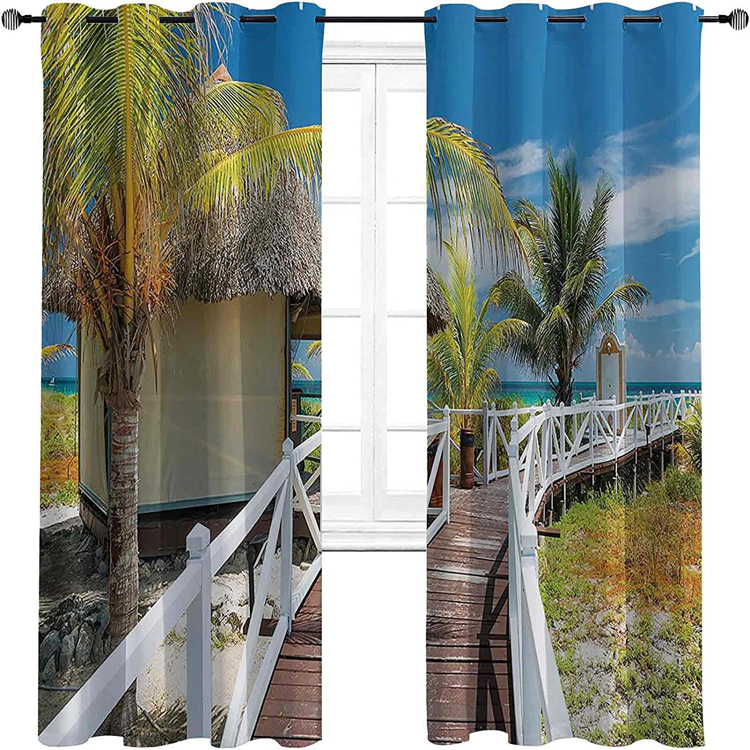 Seaside Decor Limited Special Price Collection Blackout Grommets darken Outlet SALE Curtains with