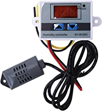 ACAMPTAR Controlador Digital De Humedad Higrometro Interruptor De Control De Humedad 0~99% Rh Hygrostat Con Sensor De Humedad Dc12V