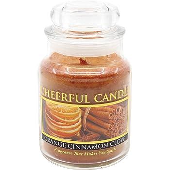 12 Ounces Darice Jar Candle Orange Cinnamon Clove 3 Wick