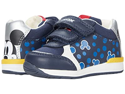 Geox Kids Rishon 19 Mickey Mouse (Infant/Toddler) (Blue/Silver) Boy