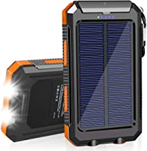 SolarCharger 20000mAh Solar Power Bank Waterproof Portable Charger with Dual 5V USB Port/LED Flashlight Compatible withA...