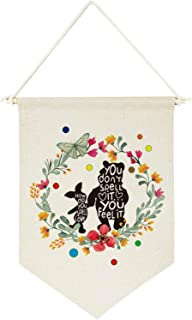 chillake Inspirational Winnie The Pooh Quote Banner Flag Wall Hanging Decor Gift for Kids boy Girl Nursery Room Front Door Decoration