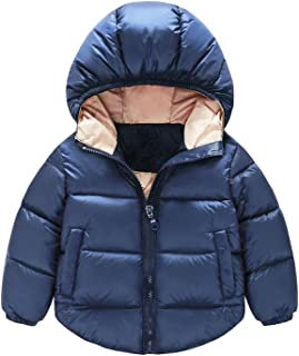 234672b1387 TAOJIAN Toddler Baby Boys Girls Outerwear Cotton-Padded Hooded Coats Winter  Jacket