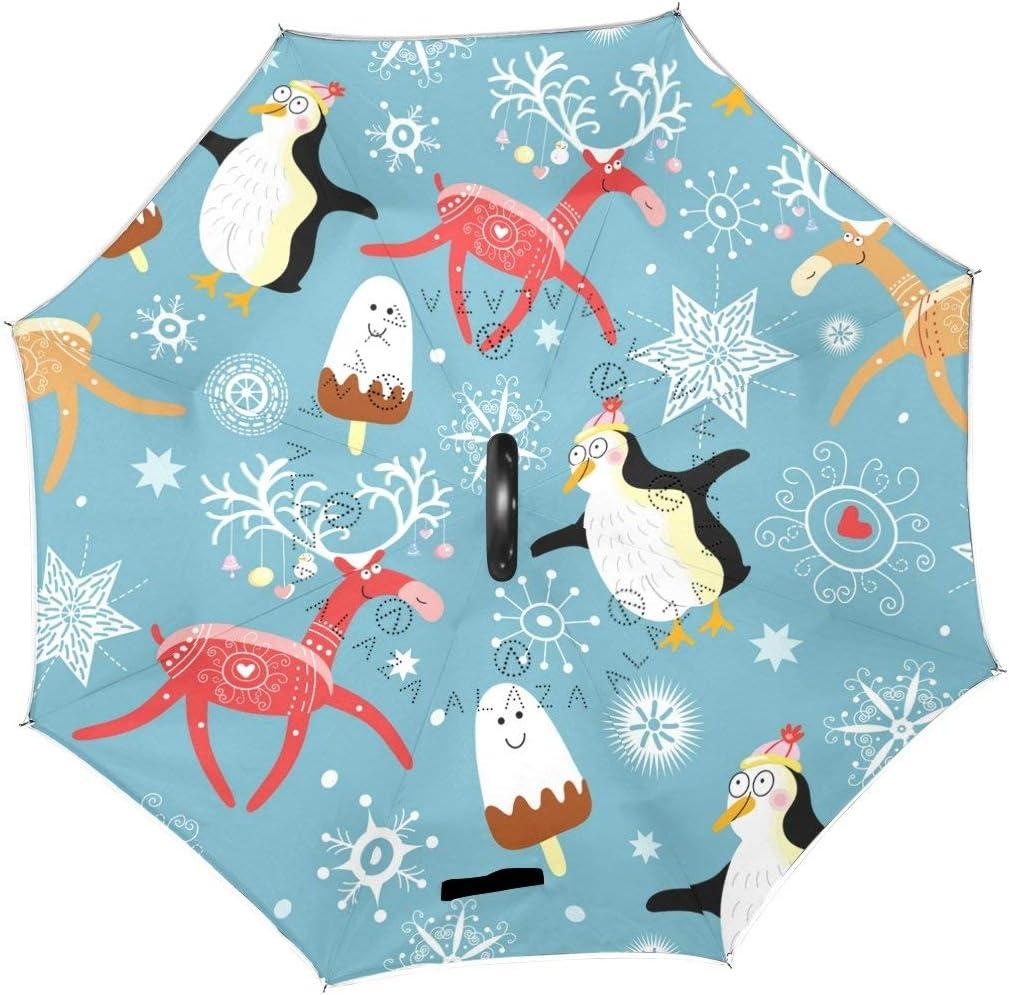 Ranking TOP2 rodde Brand Cheap Sale Venue Umbrella Vintage Christmas New Elk Winter Year Pengui Deer