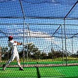 Baseball Batting Cage Nets [12 Sizes] | Professional Fully Enclosed #42 Grade Heavy Duty HDPP Netting | Baseball & Softball Cage Netting | Hitting Cage Net (H: 10' x W: 10' x L: 55')