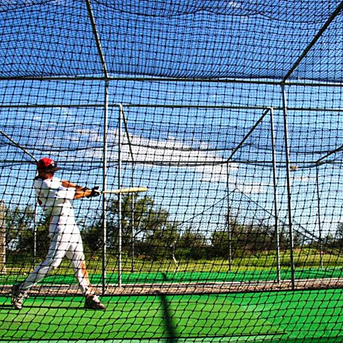 Baseball Batting Cage Nets [12 Sizes] | Professional Fully Enclosed #42 Grade Heavy Duty HDPP Netting | Baseball & Softball Cage Netting | Hitting Cage Net (H: 10' x W: 10' x L: 35')