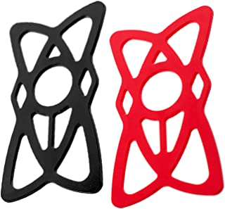 Aduro Pack of 2, Replacement Rubber/Silicone Bands for U-Grip Plus Universal Bike, Motorcycle, Handlebar, Roll Bar Mount for All Smartphones, Apple iPhone, Samsung Galaxy, Motorola (Black + Red)