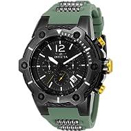 Invicta Men's Bolt Stainless Steel Quartz Watch with Polyurethane Strap, Green, 23.5 (Model: 25471)