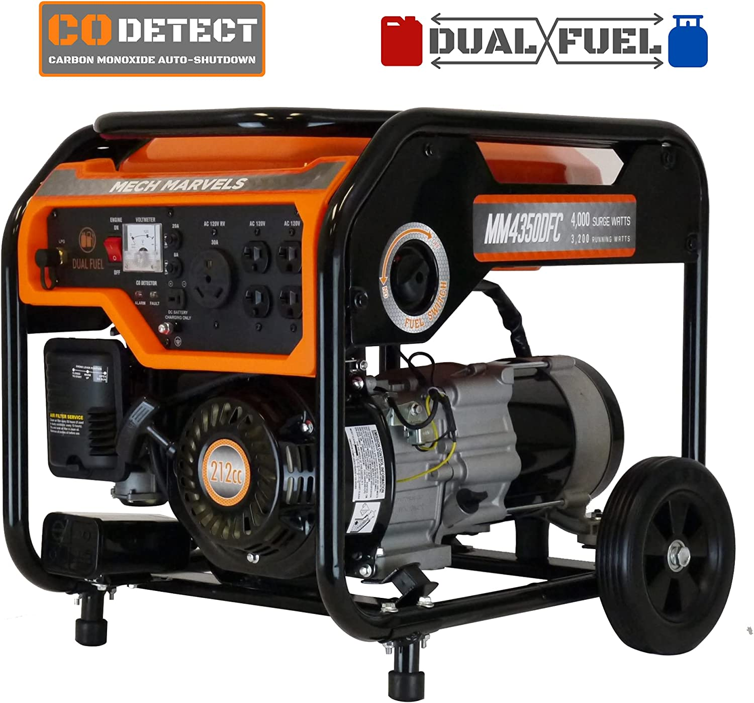 Mech Marvels MM4350DFC Orange Generator All stores are Baltimore Mall sold Portable