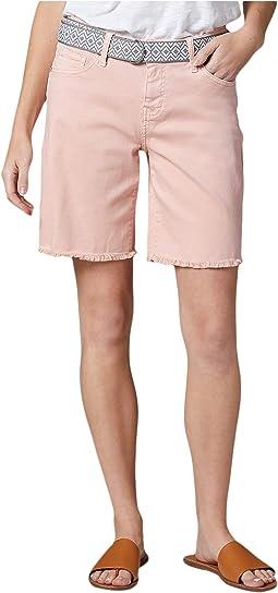 Demi Belted Twill Boyfriend Shorts