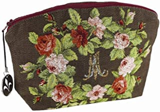 Victorian Trading Co 'M' Marie Antoinette Toiletries Floral Tapestry Make Up Bag