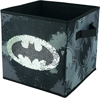 Batman Collapsible Sequin Storage Cube 1 Pack