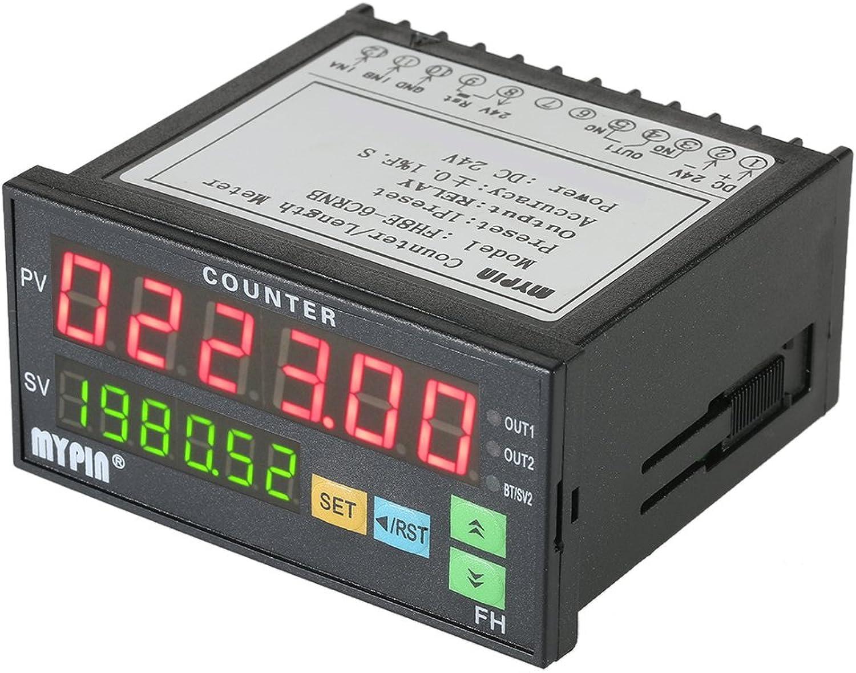 Minzhi MyPin FH8E-6CRNB Multifunktions Preset 6 6 6 Digitale Zhler Intelligente Lnge Batch Meter 24V DC Lnge Count Meter-Relais-Ausgang B07CLY88SF | Die Königin Der Qualität  f10acd
