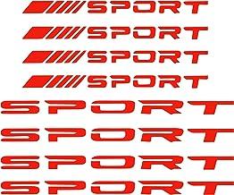 TOMALL 8Pcs Sport Emblem Reflective Stickers for Car Wheels Rims Hub Auto Racing Performance Sport Logo Decals for Car Tru...