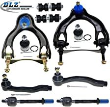 DLZ 10 Pcs Front Suspension Kit-Upper Control Arm Ball Joint AssemblyLower Ball Joint Sway Bar Tie Rod End Compatible with 1992-1995 Honda Civic 1993-1997 Honda Civic Del Sol 1994-1997 Acura Integra