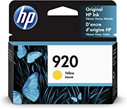 HP 920 | Ink Cartridge | Yellow | Works with HP OfficeJet 6000, 6500, 7000, 7500 | CH636AN