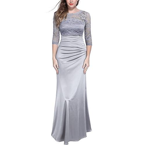 Amazon Uk: Satin Lace Evening Dresses: Amazon.co.uk