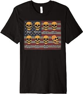 American Liberal Neanderthal Skulls Funny Premium T-Shirt