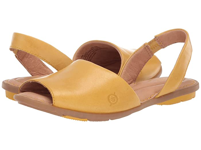 Born  Trang (Yellow Full Grain Leather) Womens Shoes