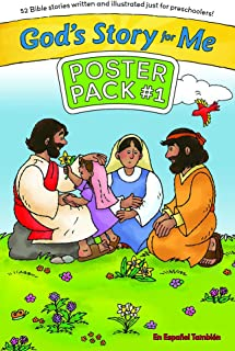 God's Story for Me Poster Pack #1: 52 Bible Stories Written and Illustrated Just for Preschoolers'