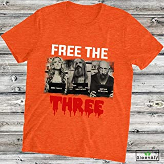 Free The Three T-Shirt Rob Zombie 3 From Hell Halloween