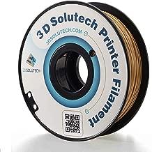 3D Solutech Real Gold 3D Printer PLA Filament 1.75MM Filament, Dimensional Accuracy +/- 0.03 mm, 2.2 LBS (1.0KG)