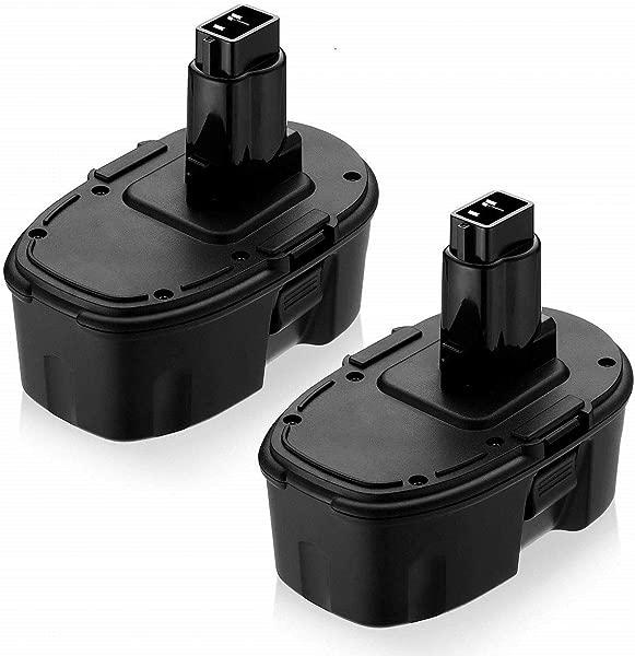 3600mAh 2 Packs Replacement For Dewalt 18V Battery XRP DC9096 DC9099 DC9098 DW9099 DW9098 Compatible With 18 Volt Cordless Power Tools