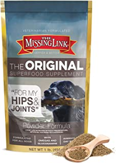The Missing Link Original All Natural Superfood Dog Supplement, Balanced Omega 3 & 6 Plus Glucosamine to support Mobility ...