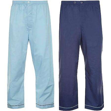 Mens Champion 2 Pack Cotton Pyjama Trouser Bottoms Sleepwear Nightwear (Navy/Sky) M