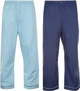 Mens Champion 2 Pack Cotton Pyjama Trouser Bottoms Sleepwear Nightwear (Navy/Sky) 2XL