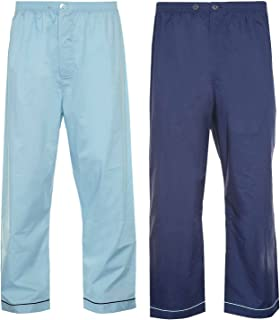 Champion Men's Pack of 2 Hampton Polycotton Long Pyjama Trouser Bottoms