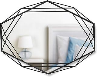 UMBRA Prisma Mirror. Miroir mural Prisma sur structure en métal noir. Dimension 57.2x43.2x9.5cm
