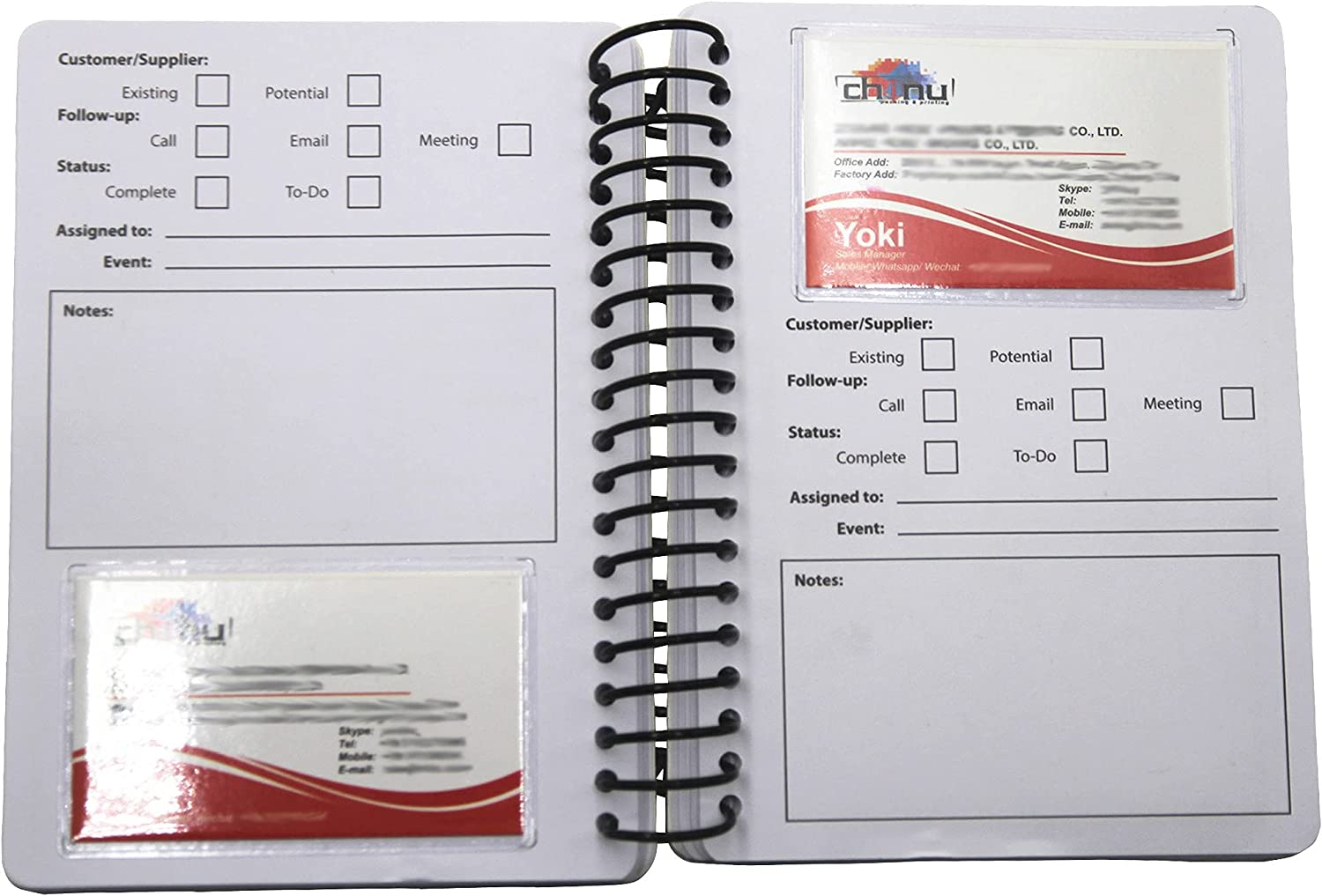 Business Card favorite Notepad for Exhibition Credit Man Organizer Safety and trust