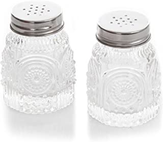 The Pioneer Woman Adeline Clear Pressed Glass Salt and Pepper Shaker Set